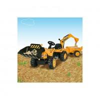 Smoby 33389 Трактор педальный с прицепом и ковшами